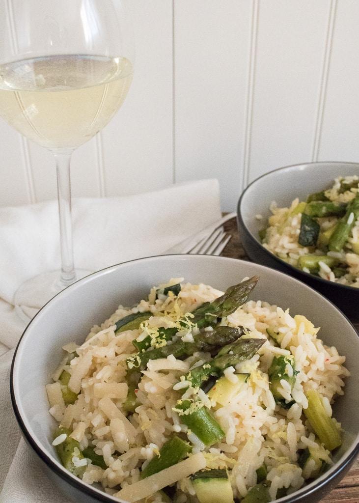 Asparagus and Zucchini Risotto || Risotto mit grünem Spargel und Zucchini