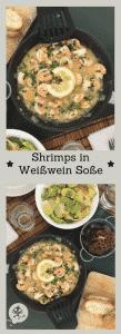 Shrimps mit Knoblauch und Weißwein, beste Grüße von Mamunche.com