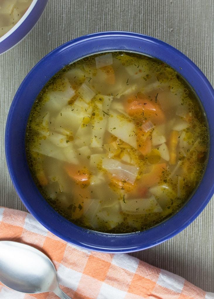 Супа от зеле и моркови