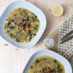 Pilz Suppe mit Polenta