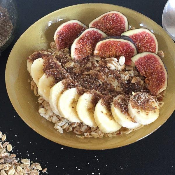 Porridge mit Feigen
