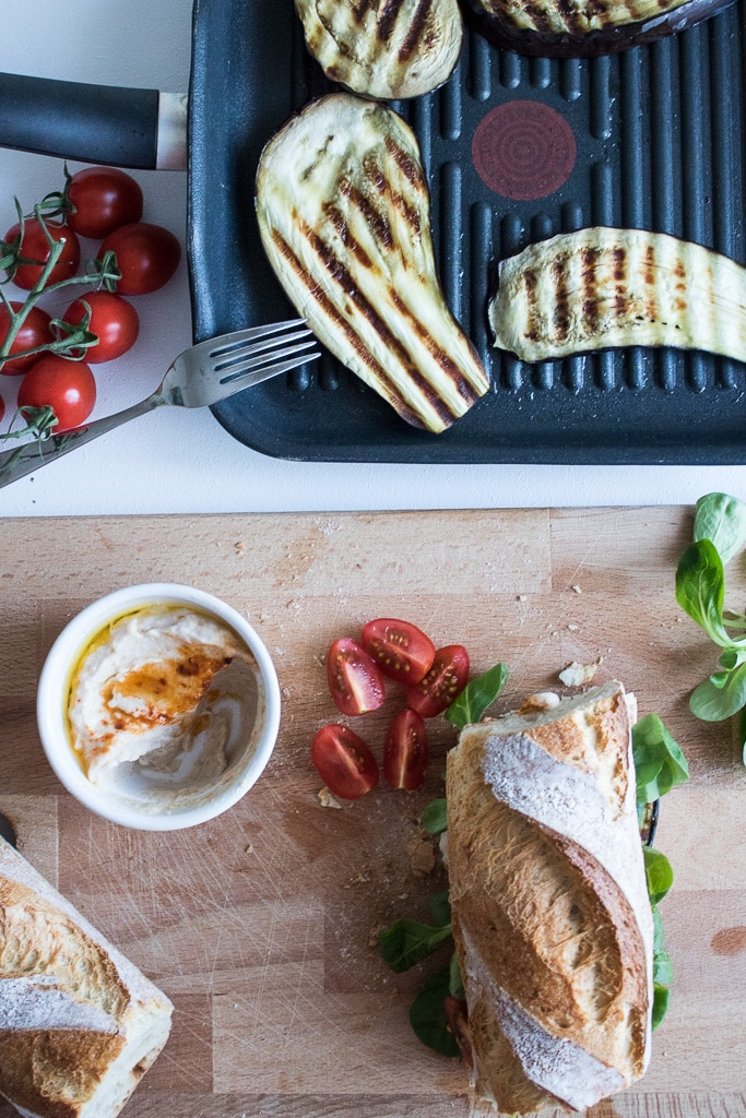 Сандвич с патладжан и хумус I Auberginen auf Sandwich