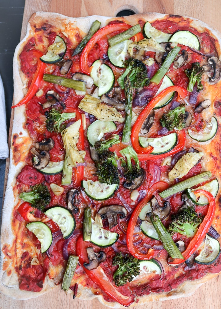 Vegan vegetable Pizza | | Vegane Gemüsepizza