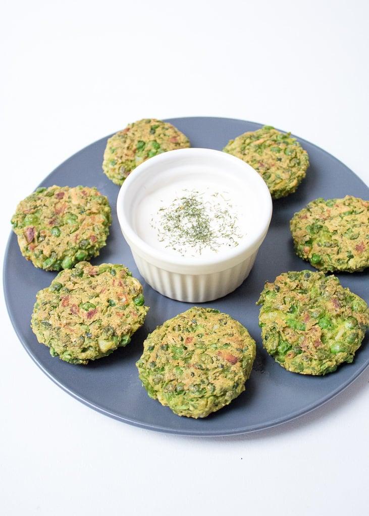 Green Pea Fritters || Erbsenbällchen aus dem Ofen
