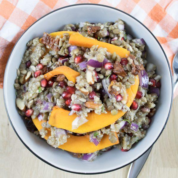 Linsen Kürbis Salat