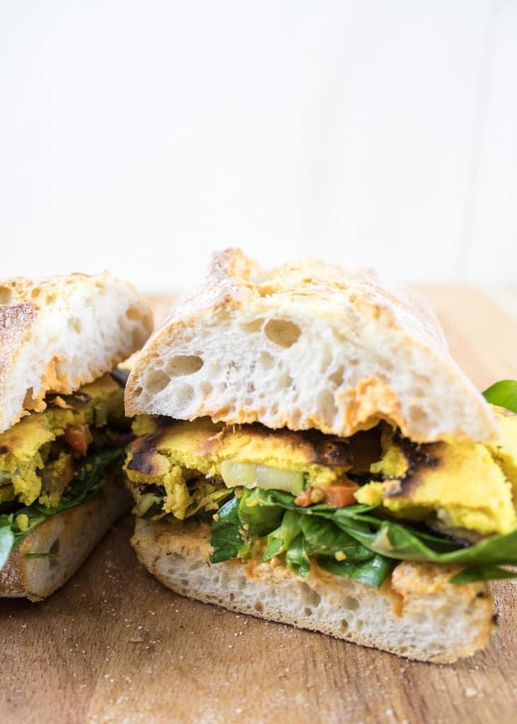 Сандвич с веган омлет | Ciabatta mit veganem Omelett