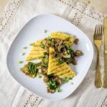 Grilled Polenta with Mushroom   Грилована полента с гъби   Gegrillte Polenta mit Pilzen