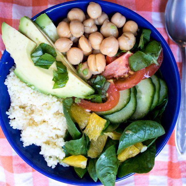 Kichererbsen Couscous Salat