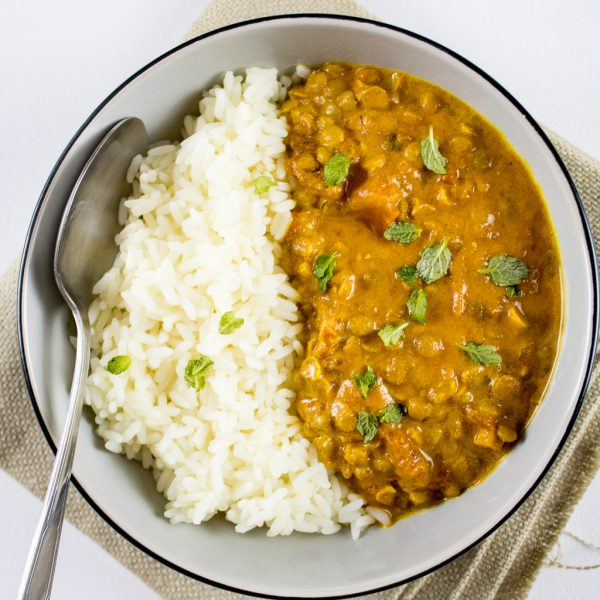 Linsen Kokos Curry