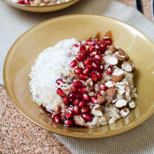Granatapfel Porridge