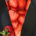 Erdbeer Käsekuchen Nahaufnahme