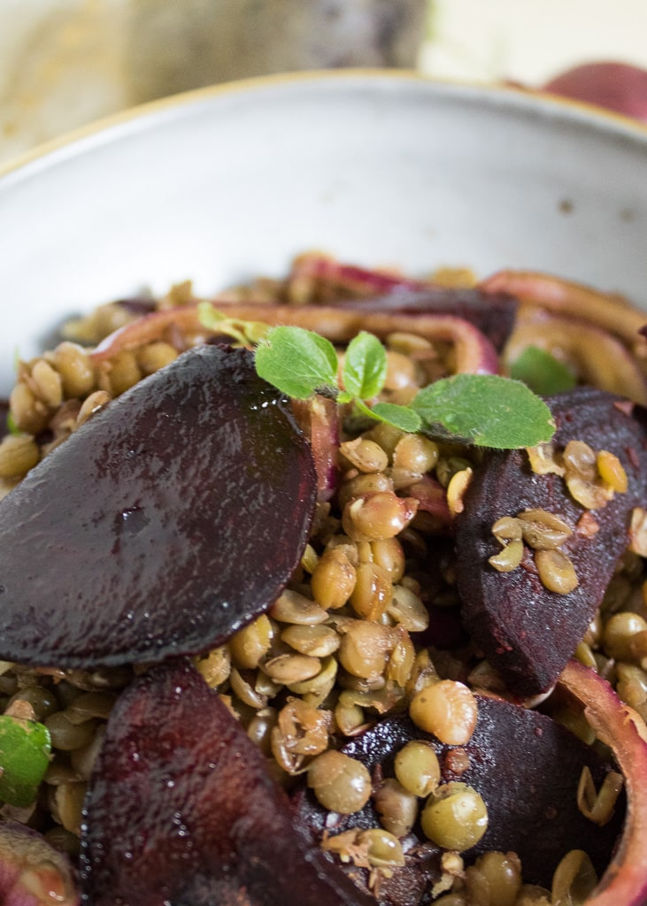 Lentil Salad with roasted Beetroot