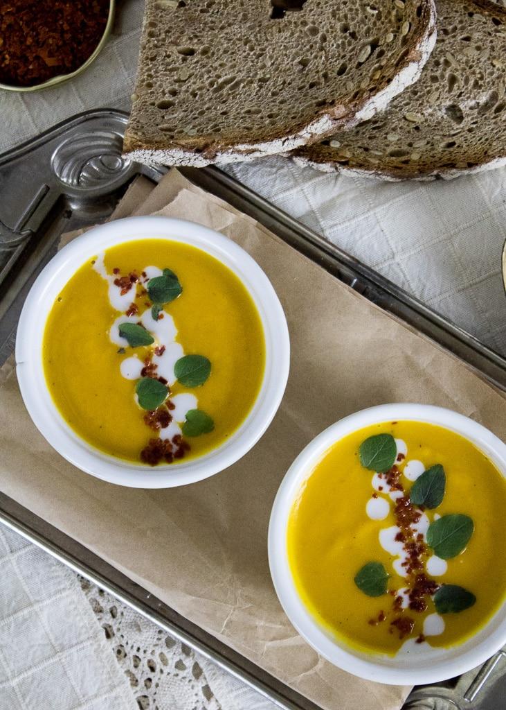 Крем супа от тиква I Kürbis Creme Suppe von oben
