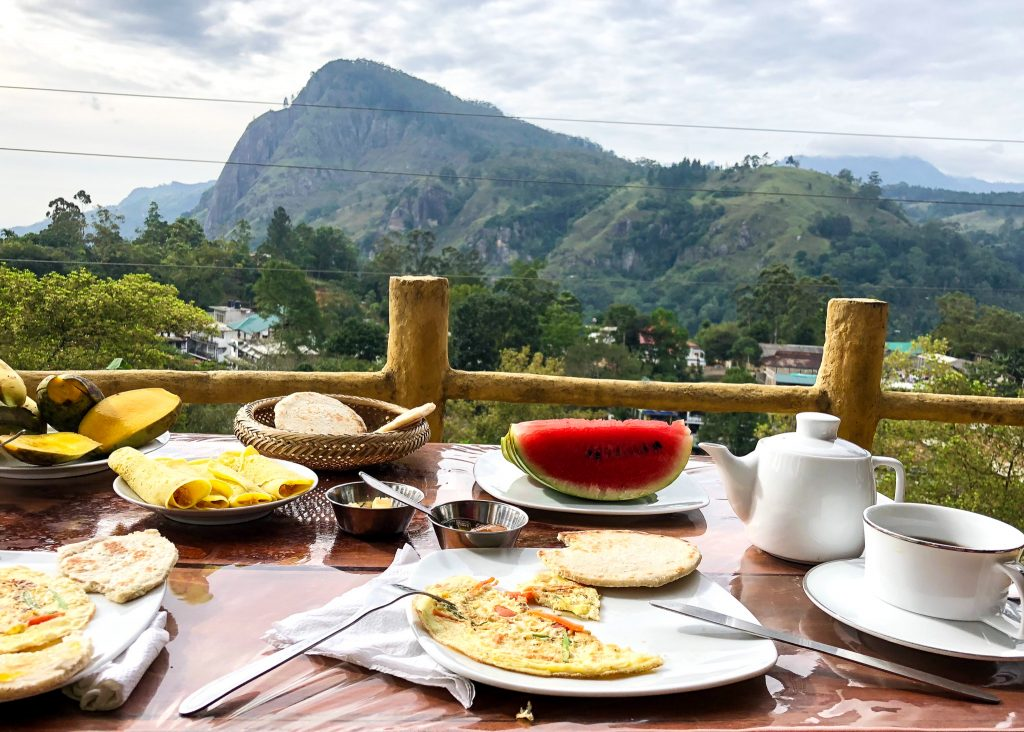 Breakfast at Eden View, Ella, Sri Lanka | Закуска в хотел Eden View, Елла, Шри Ланка