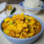 Aloo Gobi close I Карфиол с картофи по индийски